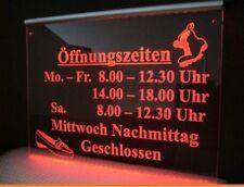 LED Leuchtschild 40x30cm LOGO Praxis Firmenschild individuell z.B.Öffnungszeiten