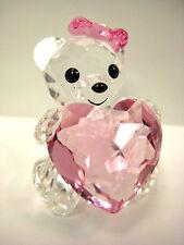 KRIS BEAR ONLY FOR YOU HOLDING HEART 2012 SWAROVSKI   #1096732