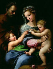 Art oil painting raffaello-sanzio-the-virgin-of-the-rose Madonna & Christ 24x36""