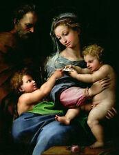 "Art oil painting raffaello-sanzio-the-virgin-of-the-rose Madonna & Christ 24x36"""