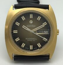 Rare day-date ROAMER ROCKSHELL Mark VIII. Big size, excellent condition