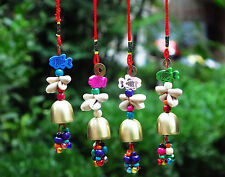 Ethnic Colorful Charm Copper Bell Wind Chime Chic Home Outdoor Yard Garden Decor