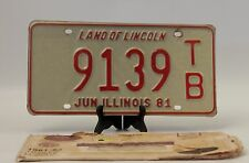 1981 Illinois License Plate Business Trailer Single Plate
