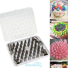 52 Pcs Russian Flower Icing Piping Nozzles Cake Decoration Tips Baking Tools kit