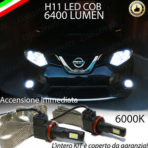 KIT FULL LED PER NISSAN X-TRAIL X TRAIL ANABBAGLIANTE LAMPADE LED H11 6000K