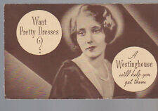 Want Pretty Dresses A Westinghouse Will Help You Get Them 1934 Washer Brochure
