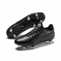 Puma Football Soccer Mens SG Soft Ground Boots Cleats Black K-leather Vamp