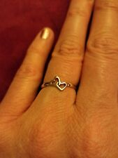 NEW 925 Sterling Silver 2 Hearts Ring Womens Size 5 Love Valentine's Day Promise