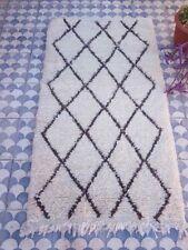 Vintage Berber Rug ivory Runner Moroccan Rug corridor area rug