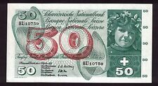 SWITZERLAND 4.10.1957 50 FRANKEN BANKNOTE APPLE HARVESTING AU 8U10759 P-47b