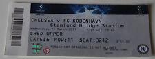 Ticket for collectors CL Chelsea FC - FC Copenhagen 2011 England Denmark