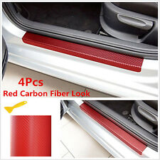 4X Accessories 3D Carbon Fiber Car Door Sill Scuff Anti-Scratch Decal Front Rear