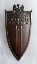 Insigne Pologne GRUNWALD BERLIN 1945 à identifier WWII POLAND POLISH BADGE ?