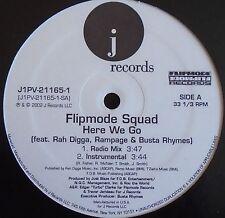 "FLIPMORE SQUAD ~ Here We Go ~ 12"" Single USA PRESSING"