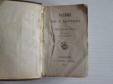 SALVATOR ROSA Satire - Odi e Lettere BOOK LIBRO 1860