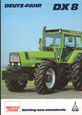 """Deutz-Fahr """"DX 8"""" Tractor Brochure Leaflet"""