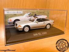 MERCEDES 500SL 500-SL CONVERTIBLE 1989 1:43 MINT!!!