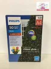 Philips 50 Count LED Lights Classic Glow Multicolor New