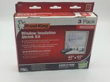 Window Insulation Kit Indoor Shrink Film Energy Saving Efficiency Weatherstrip