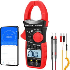 Trms 6000 Counts Ncv Clamp Multimeter With Bluetooth Ac Dc Volt Current Test Us