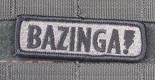 BAZINGA SHELDON COOPER ACU MORALE EMBROIDERED PATCH TACTICAL BIG BANG THEORY
