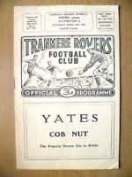 1959 Official Programme - TRANMERE ROVERS v ACCRINGTON STANLAY