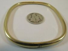 18k Gold Open Oval Bangle Bracelet Size 7, 3.5mm SALE-SAVE 1000. #1440