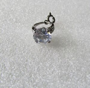 Juicy Couture Mini Wish Charm Engagement Ring New Silver Tone