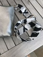 Bag Strap - Fabric Bag Strap Replacement - Silver Cameo