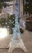 New Glimmer Led Light show Crystal Swirl Eiffel Tower Icy Blue Yard Art Decor