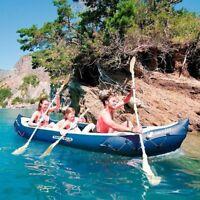 Inflatable Canoe Kayak Boat 3 Man Person Seat Adjustable Straps Fishing Kayaking