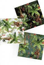 SERVIETTES EN PAPIER SINGES FORET TROPICALE.PAPER NAPKINS MONKEY TROPICAL FOREST