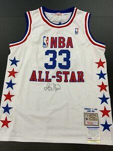 LARRY BIRD BOSTON CELTICS LEGEND HOF SIGNED 1988 ALL STAR JERSEY PSA WITNESS COA