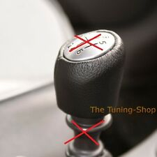 FOR RENAULT LAGUNA MK2 CUSTOM MADE BLACK LEATHER COVER FOR GEAR KNOB 6 SPEED NEW