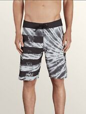 "NWT Volcom Peace Stone MOD 20 Tie-dye Boardshorts 33"" Grey"