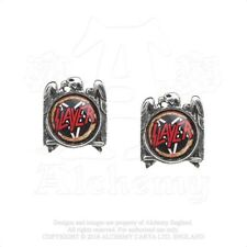Slayer Official Pewter And Surgical Steel Silver Eagle Logo Earrings Studs Thras