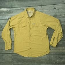 COLUMBIA Lightweight Button Front Nylon Long Sleeve Shirt Hike Travel Fish Sun