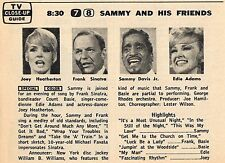 1966 Tv Ad~SAMMY DAVIS JR~FRANK SINATRA~JOEY HEATHERTON~EDIE ADAMS