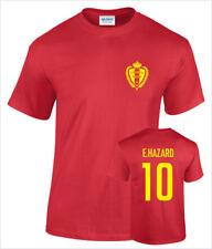 Eden Hazard Belgium No.10 Mens Cotton Printed Football T-Shirt