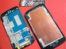 CORNICE FRONTALE PER LG GOOGLE NEXUS 4 E960 CHASSIS NERO PER LCD VETRINO FRAME