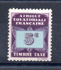 colonie française Afrique Equatoriale Française Taxe n° 1 neuf **