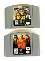 WCW Nitro & WCW vs NWO Nintendo 64 N64 Wrestling Game Cartridge Lot - Tested
