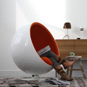 Eero Arnio Style Ball Chair Designer Furniture Fibre glass Shell Red Color