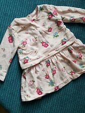 6-9 months girl pink winter long sleeve dress mothercare