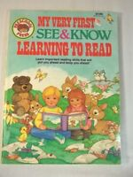Preschool Press My very First See and Know Learning To Read Coloring Book