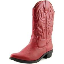 Botas de mujer vaqueros rojos sintético