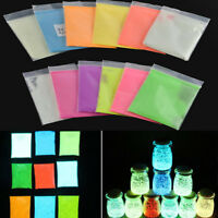 HOT  luminous Fluorescent Super Bright Glow in the Dark Powder Glow Pigment DIY