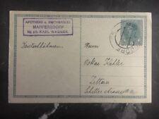 1918 Maffersdorf Austria postal stationery postcard cover to Zittau Germany