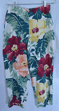 NWT Tommy Bahama Womens Size 6 Freeze Floral Silk Harem Loose Fitting Pants