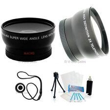 52mm 3 Lens Set Telephoto+Wide Angle+Macro+BONUS Nikon D40X D200 D300 D600 D800